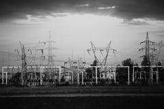 Bw electro station Stock Photo