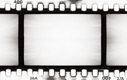 BW film strip. Empty film strip, may use as a background Stock Images