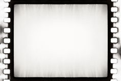 BW film strip. Empty film strip, may use as a background Royalty Free Stock Photography