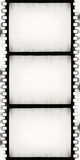 BW film strip. Designed empty film strip with added grain Stock Photos