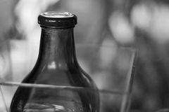 BW-fles Royalty-vrije Stock Afbeeldingen