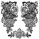 bw floral απεικόνιση αποθεμάτων