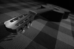 BW guitar. Black and white guitar photo Royalty Free Stock Photos