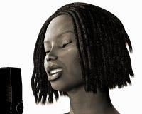 bw-jazzsångare stock illustrationer