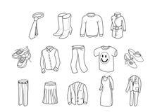 bw-kläder royaltyfri illustrationer