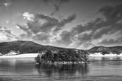 Bw lake Royalty Free Stock Images