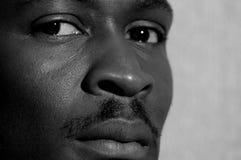 BW Mistrust portrait. Portrait of a young man looking suspiciously Stock Photos