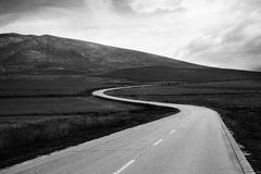 Bw mountain road Stock Photography