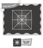 BW obliczenie kwadraty Obraz Royalty Free
