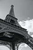 BW photo of the Eiffel Tower in Paris Royalty Free Stock Photo