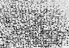 BW pixel mess illustration background Stock Image