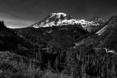 BW Rainier Stock Images