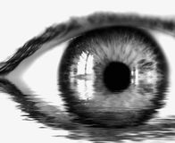 BW reflection eye. Beautiful eye bw reflection Royalty Free Stock Photo