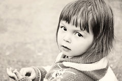 BW Toddler Portrait Stock Photography