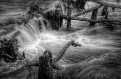 BW weir Royalty Free Stock Images