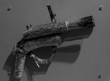 BW woodpistol 免版税库存图片