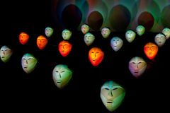 Bwindi Light Masks - Artist light 2011 Stock Photo