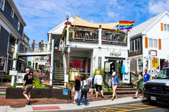 Bxclusive Fashions, Commercial Street, Provincetown, MA. Royalty Free Stock Photo