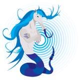 być błękitny mitologiczny royalty ilustracja