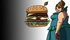 Być bardzo głodnym ilustracją Obraz Royalty Free