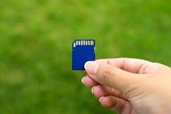 być był tylna karty zakończenia pamięć photoed umieszczającą w górę Fotografia Stock