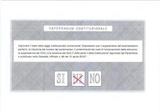 BYĆ MOŻE głosowanie w czerwieni na Włoskim kartka do głosowania Fotografia Stock