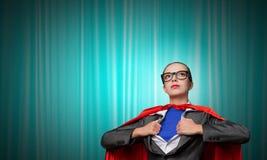 Być super kobieta wp8lywy siłą Zdjęcia Royalty Free