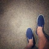 Być ubranym parę błękitni próżniacy Obraz Stock