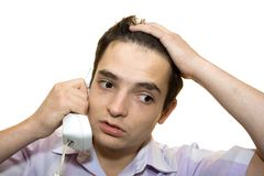 By Telephone II. Royalty Free Stock Images