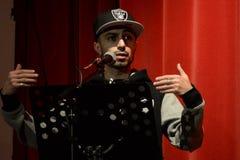 BYA spricht 2014 (schwarze Jugend-Leistungen) in London zu Stockbild