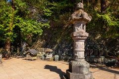 Byakkutai墓地在Aizuwakamatsu,日本 免版税库存图片