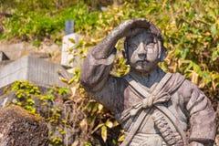 Byakkutai墓地在Aizuwakamatsu,日本 库存照片