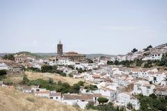 Byar i landskapet av Huelva Cortegana Royaltyfri Bild