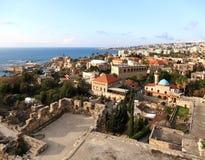Byblos от замка крестоносца Стоковое фото RF