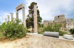 烈士城堡, Byblos,黎巴嫩 图库摄影