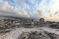 Byblos Archeological site stock images