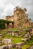 Byblos Castle Ruins Lebanon. Byblos castle in modern day Lebanon was built by the Crusaders in the 12th century from indigenous limestone and the remains of Royalty Free Stock Photo