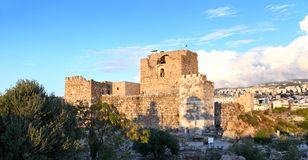 Byblos Crusader Castle at Sunset, Lebanon royalty free stock photos