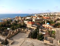 Byblos from the Crusader Castle Royalty Free Stock Photo