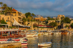 Byblos Jbeil Ancient old harbour port Lebanon Royalty Free Stock Photos