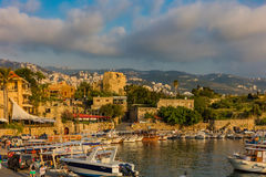 Byblos Jbeil Ancient old harbour port Lebanon Royalty Free Stock Images