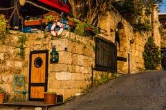 Byblos Jbeil old street Lebanon. Old street of Byblos Jbeil in Lebanon Middle east stock images