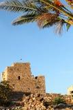 Byblos korsfarareslott, Libanon Royaltyfria Bilder