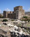 Byblos Kreuzfahrer-Schloss, der Libanon Lizenzfreie Stockfotografie