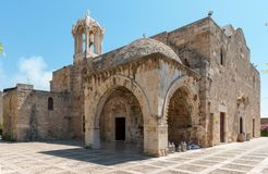 Byblos is a Mediterranean city in the Mount Lebanon. Byblos is located about 42 kilometres 26 mi north of Beirut stock photo