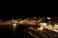 Byblos nachts (der Libanon) stockfoto