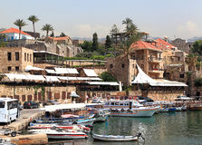 Byblos town and harbor, Lebanon Royalty Free Stock Photo