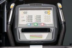 bycicle显示器特写镜头与按钮和水平的 免版税库存图片