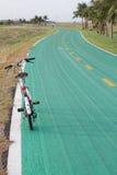 Bycicle στην πράσινη πάροδο Στοκ Εικόνα