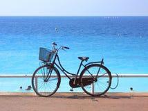 Bycicle στη θάλασσα Στοκ Εικόνες
